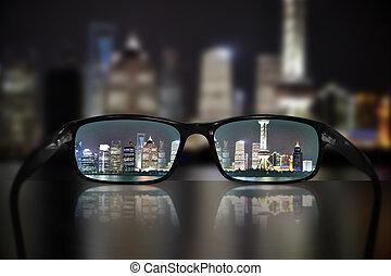 brille, anblick-konzept, shanghai