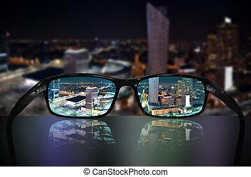 brille, anblick-konzept, warschau