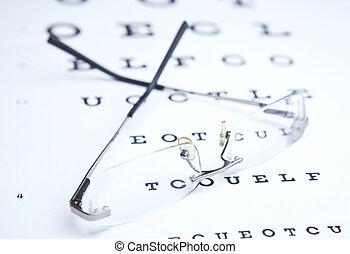 brille, &, beäugen diagramm