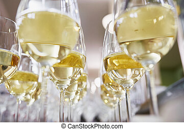 brille, mit, champagner