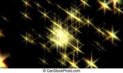 briller, étoiles, fond, noël