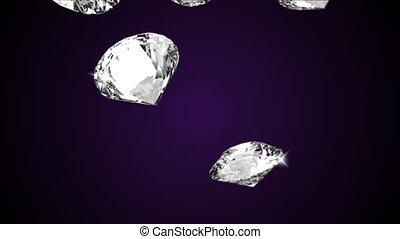 briller, clarifiez réduction, écran, beau, boucle, cristal vert, fin, grand, haut, rond, arrière-plan., diamant