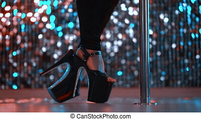 briller, en mouvement, sexe, danser., danseur, danse, ...