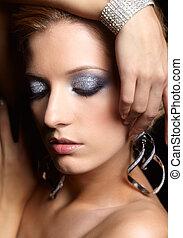 briller, visage femme, maquillage