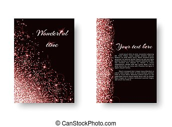 Brilliant background with light flare - Glitter background...