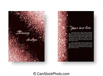 Brilliant background with shining light - Foil background...