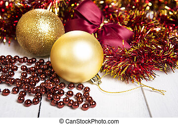 Brilliant  baubles like christmas decoration.