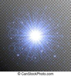Brilliant blue star