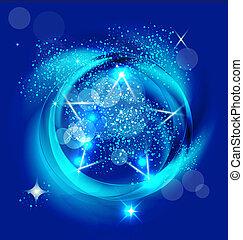 Brilliant blue star image