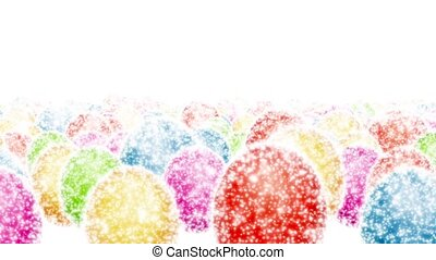 Easter eggs - Brilliant colored Easter eggs on a white...