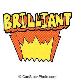 brilliant comic book style cartoon word