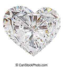 Brilliant cut heart, 3d render