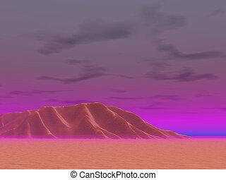 Brilliant Desert Eve - Brillinat skies in desert evening