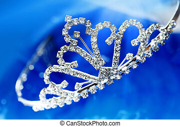 Brilliant diadem - Close-up photo of the silver diadem with...