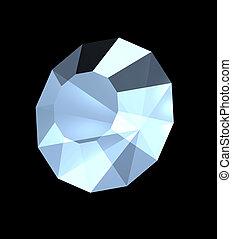 Brilliant diamond a jewelry - 3D three-dimensional model of...