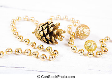 Brilliant gold  cones like christm