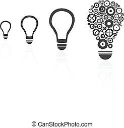 Brilliant Idea Light Bulb Among Others Concept