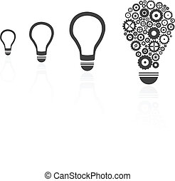 Brilliant Idea Light Bulb Among Others Concept