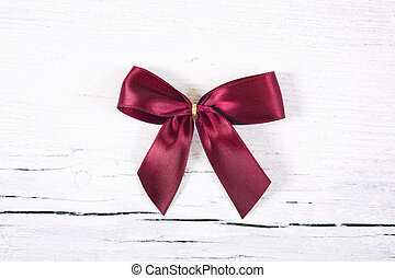 Brilliant red bow