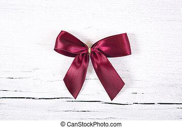 Brilliant red bow