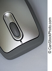 Brilliant simplicity - silver finish computer mouse