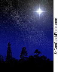 brilliant star - a star shining in the east; brilliant star...