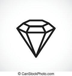Brilliant vector icon - Brilliant outline vector icon