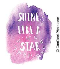 brillo, frase, estrella, como