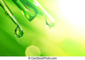 brillo, gota agua