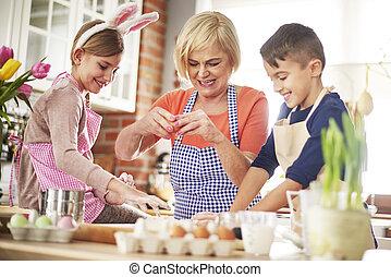 brincalhão, vó, grandchildren, amando