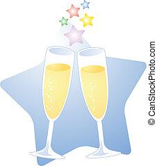 brinde, champanhe