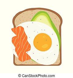 brinde, pequeno almoço, ovo