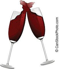brinde, vinho