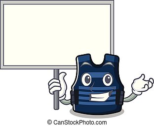 Bring board bulletprof vest isolated in the mascot