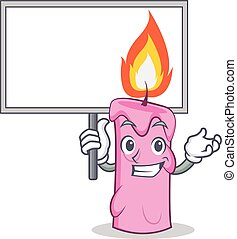 Bring board candle character cartoon style vector...
