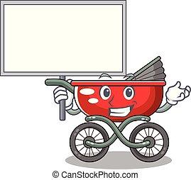 Bring board cartoon baby stroller walk in the park
