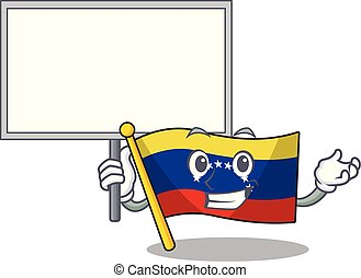 Bring board flag venezuela with the cartoon shape