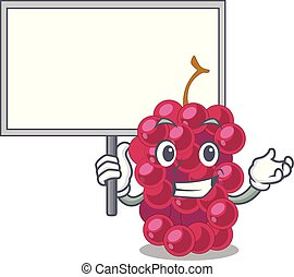 Bring board mulberry fruit on a cartoon table vector...