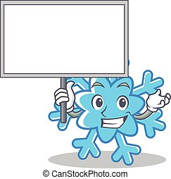 Bring board snowflake character cartoon style