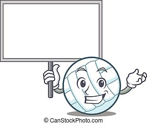 Bring board volley ball character cartoon vector...