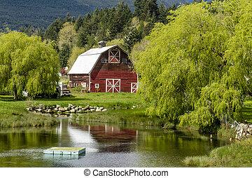 Brinnon Washington Barn by Pond