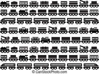 brinquedo, ícone, trem madeira
