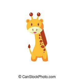 brinquedo, africano, girafa