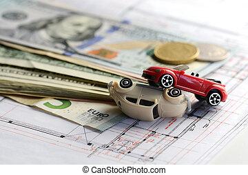 brinquedo, carros, dano, Contrato, acidente, política, seguro