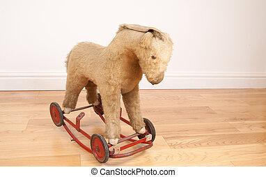 brinquedo, cavalo balanço