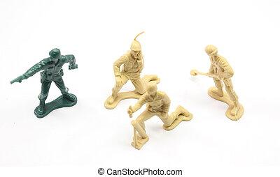 brinquedo, exército, homens, seleção