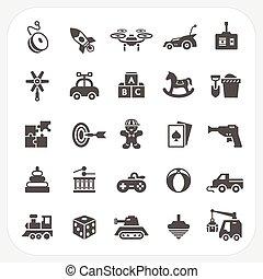 brinquedo, jogo, ícones