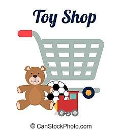 brinquedo, loja, desenho