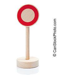 brinquedo madeira, sign:, acesso, proibido