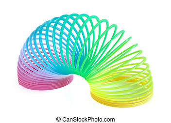 brinquedo primaveral, multi-colorido